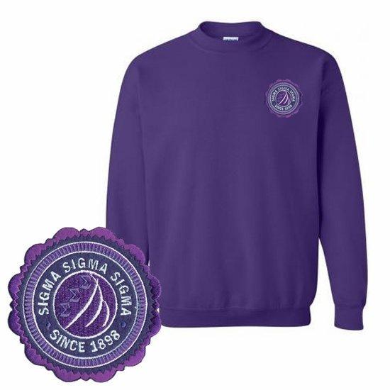 DISCOUNT-Sorority Patch Seal Sweatshirt