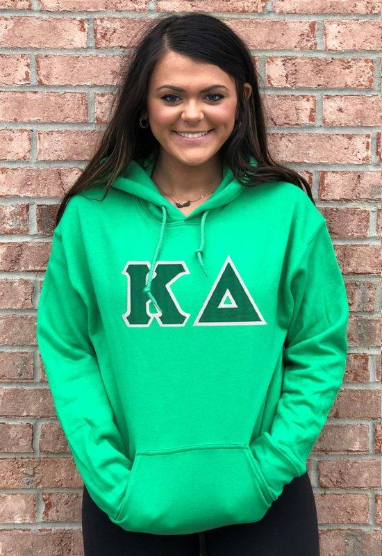 DISCOUNT Kappa Delta Lettered Hooded Sweatshirt