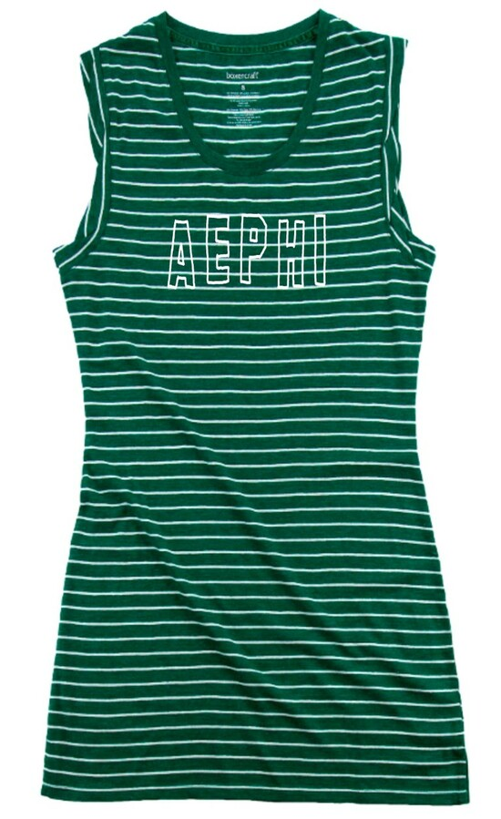 Alpha Epsilon Phi Striped Tee Dress