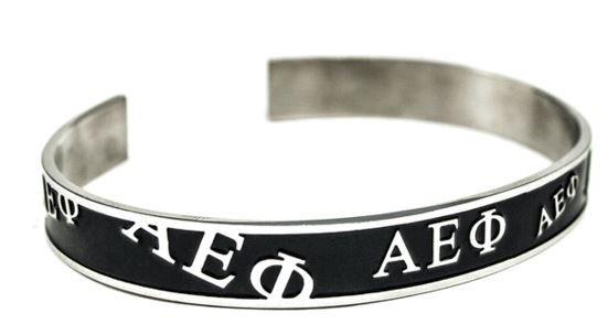 Alpha Epsilon Phi Bangle (Black)