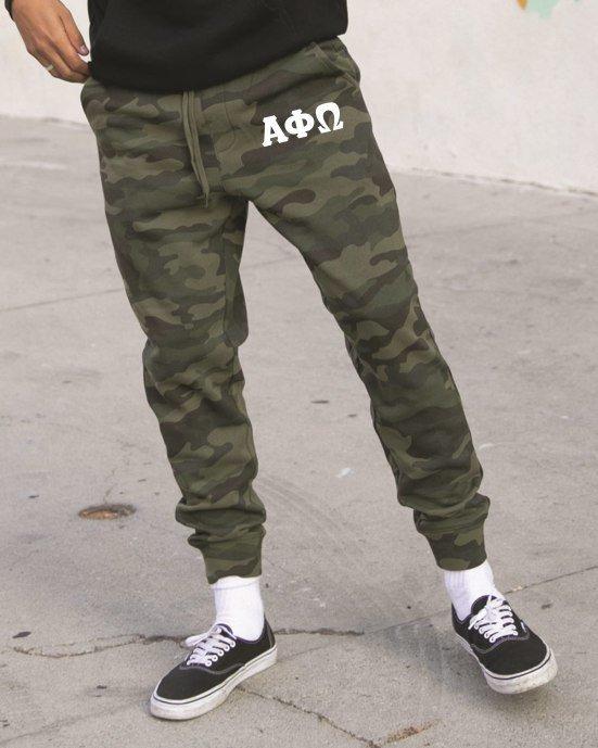 Alpha Phi Omega Camo Fleece Pants