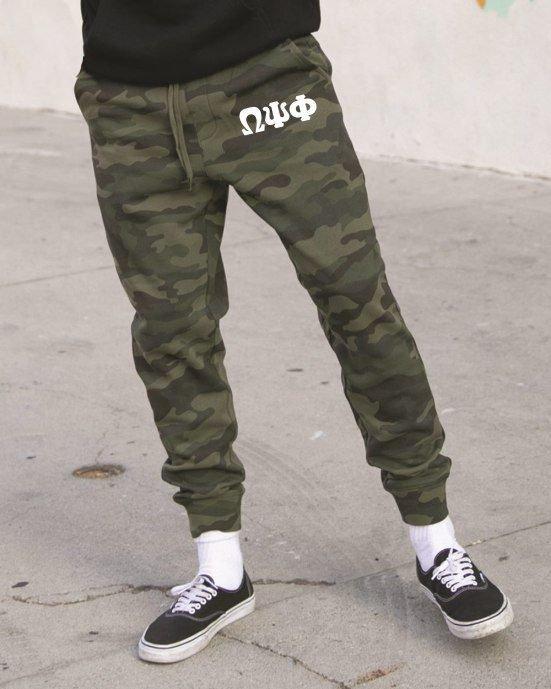Omega Psi Phi Camo Fleece Pants