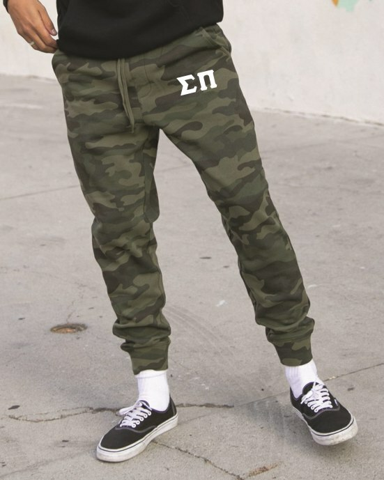 Sigma Pi Camo Fleece Pants