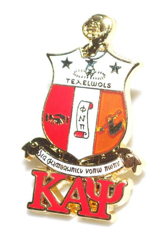 Kappa Alpha Psi 3D Color Shield w Letters Pins