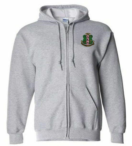 DISCOUNT-Tall Full-Zip Greek Hooded Sweatshirt