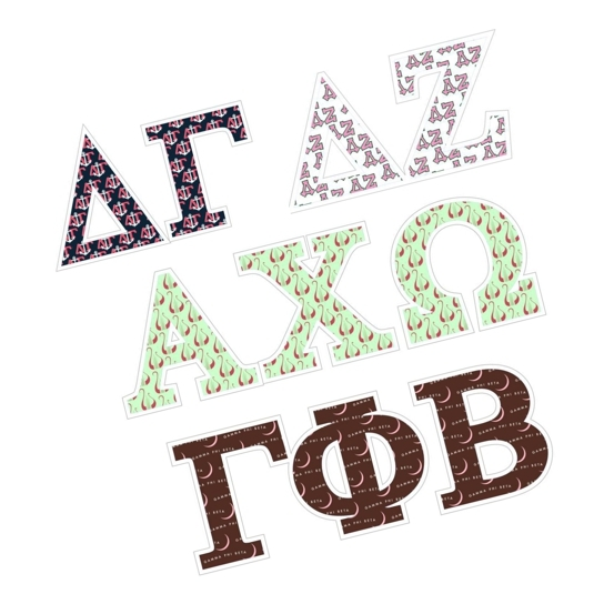Sorority Mascot Greek Letter Decal