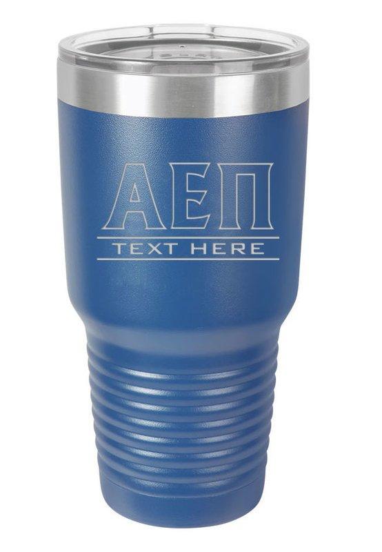 Alpha Epsilon Pi Vacuum Insulated Tumbler