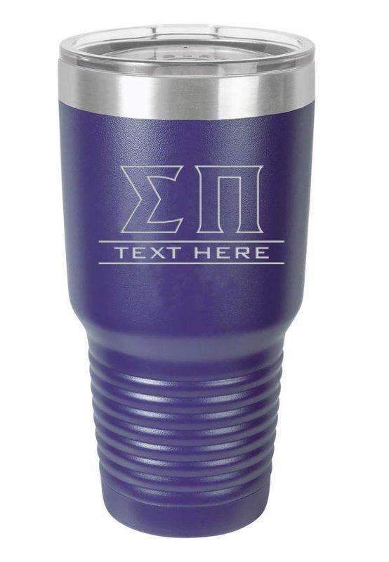Sigma Pi Vacuum Insulated Tumbler