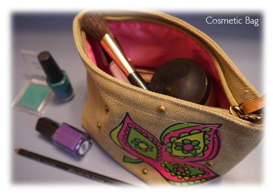 Sorority Canvas Cosmetic bag
