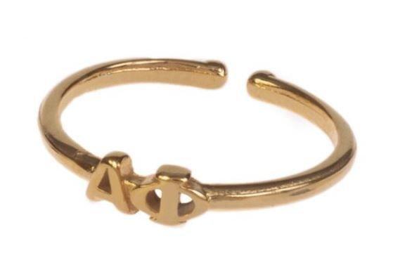 Alpha Phi Adjustable Letter Ring