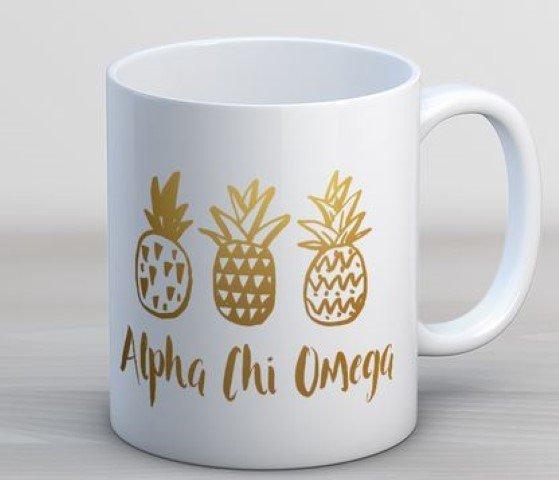 Alpha Chi Omega Pineapple Coffee Mug