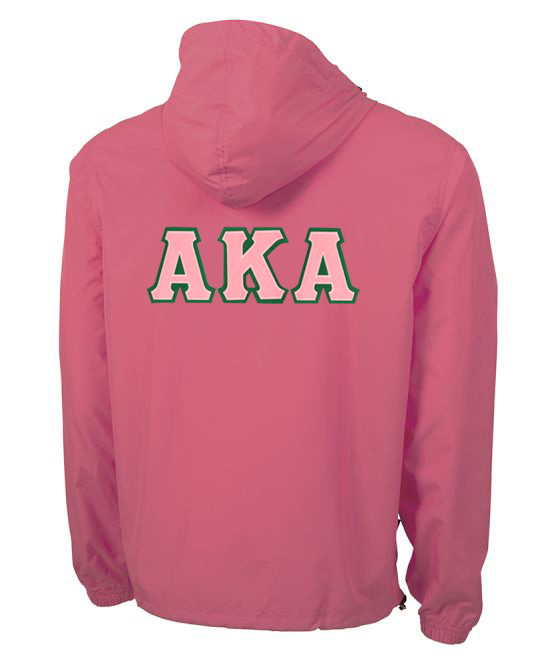 Alpha Kappa Alpha Tackle Twill Lettered Pack N Go Pullover
