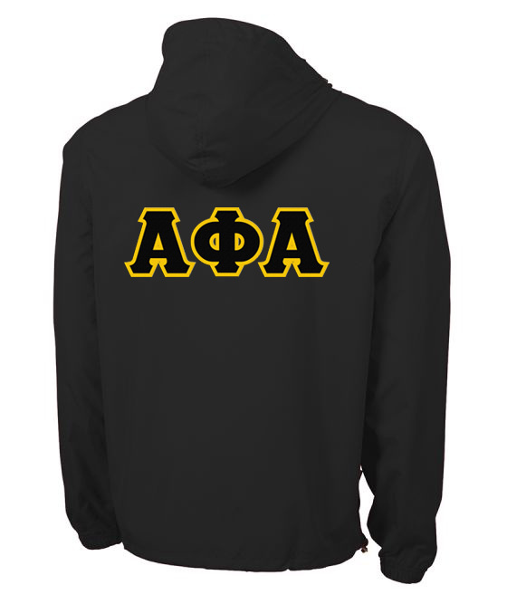 Alpha Phi Alpha Tackle Twill Lettered Pack N Go Pullover