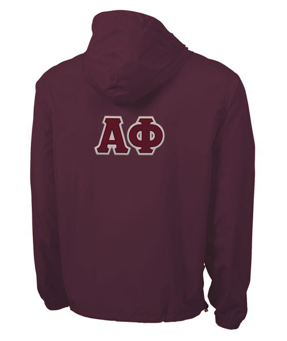 Alpha Phi Tackle Twill Lettered Pack N Go Pullover