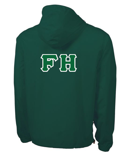FarmHouse Fraternity Tackle Twill Lettered Pack N Go Pullover
