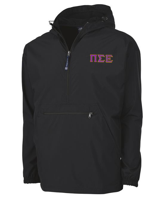 Pi Sigma Epsilon Tackle Twill Lettered Pack N Go Pullover