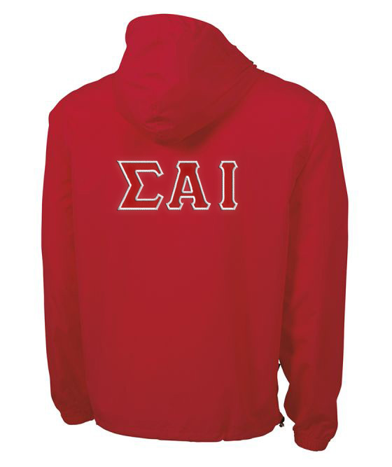 Sigma Alpha Iota Tackle Twill Lettered Pack N Go Pullover
