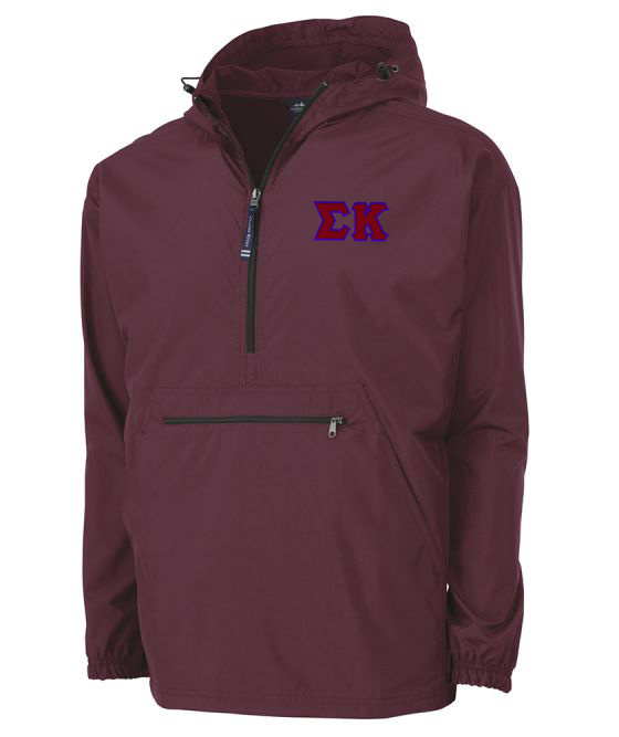 Sigma Kappa Tackle Twill Lettered Pack N Go Pullover