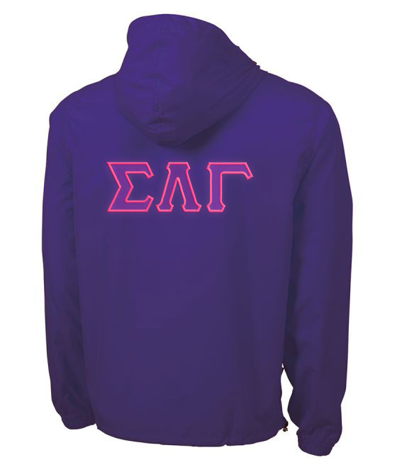 Sigma Lambda Gamma Tackle Twill Lettered Pack N Go Pullover