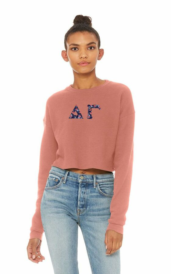 Delta Gamma Bella + Canvas - Women's Cropped Crew Fleece