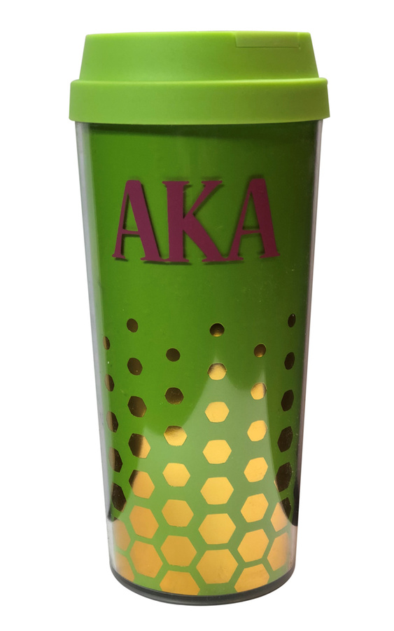 Alpha Kappa Alpha Sparkle Coffee Tumblers