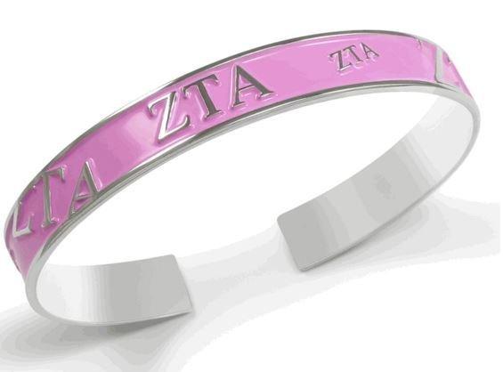 Zeta Tau Alpha Bangle (Pink)