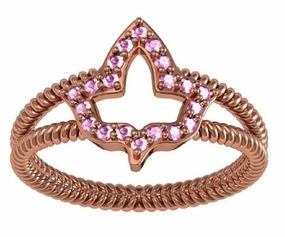 Alpha Kappa Alpha Ivy Leaf Ring