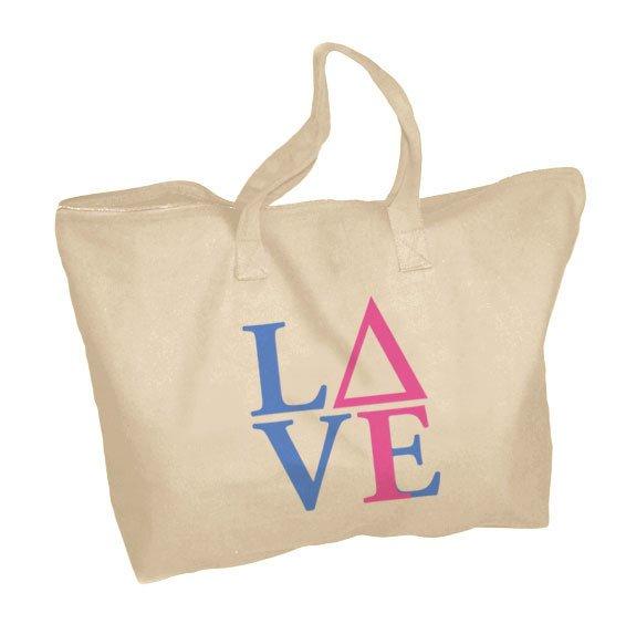 Delta Gamma Mascot Zippered Tote Bag