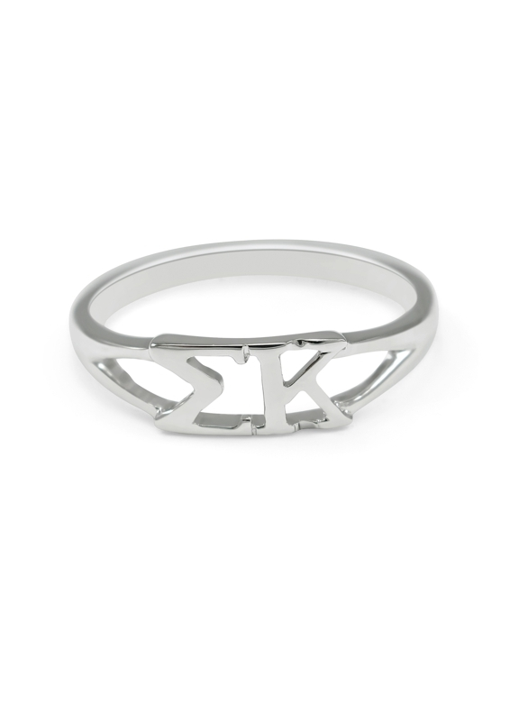 Sigma Kappa Sterling Silver Letter Ring
