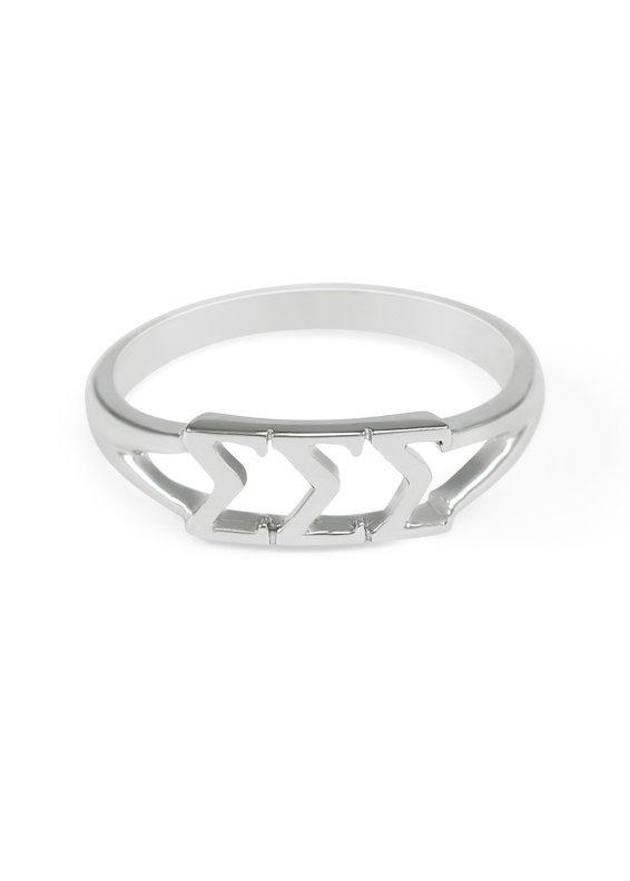 Sigma Sigma Sigma Sterling Silver Letter Ring