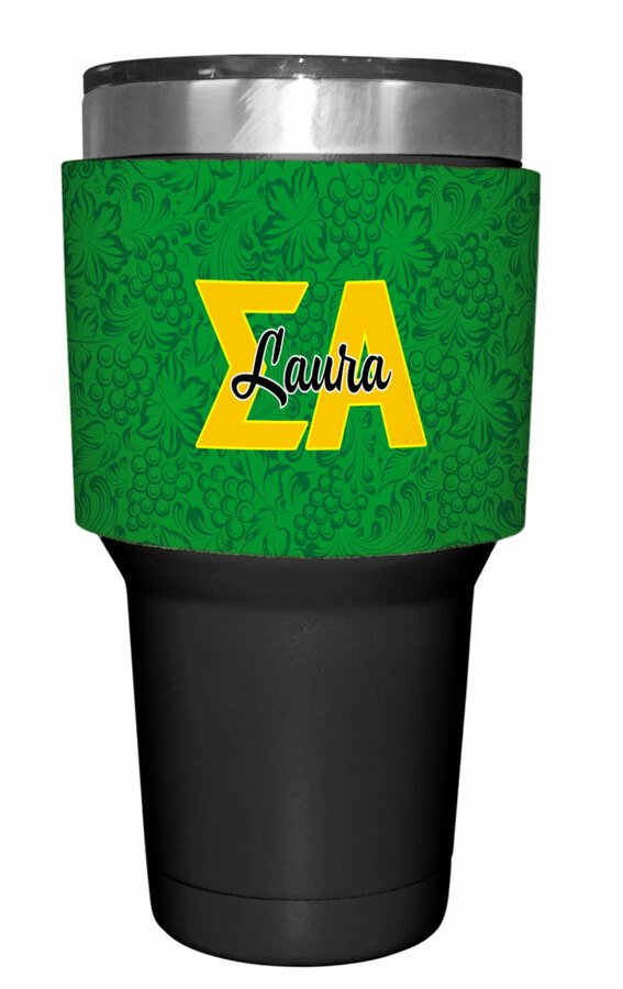 Sigma Alpha Yeti Rambler Bottle Insulator