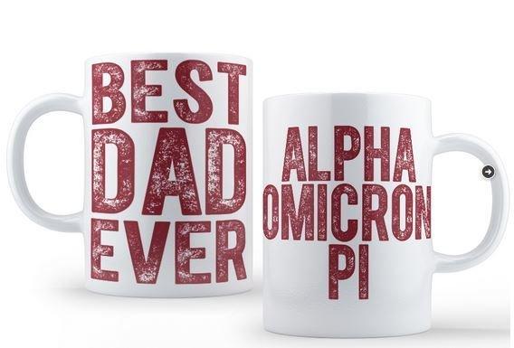 Alpha Omicron Pi Best Dad Ever Coffee Mug