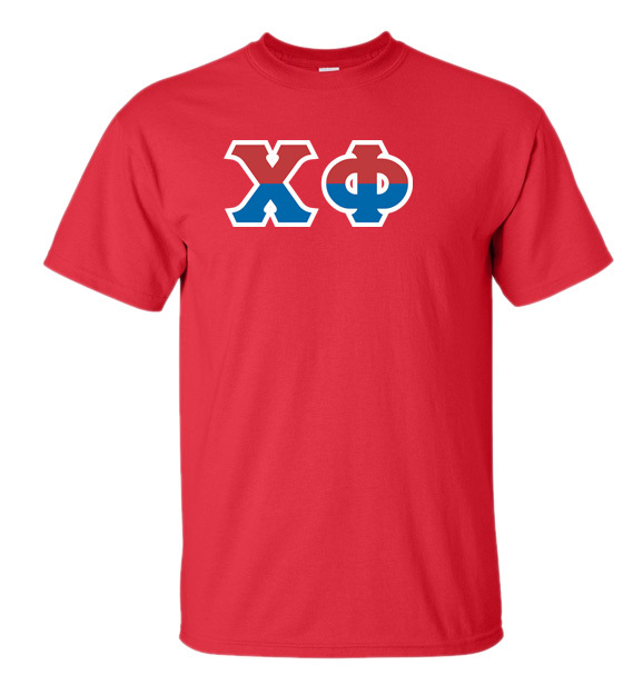 Chi Phi Two Tone Greek Lettered T-Shirt
