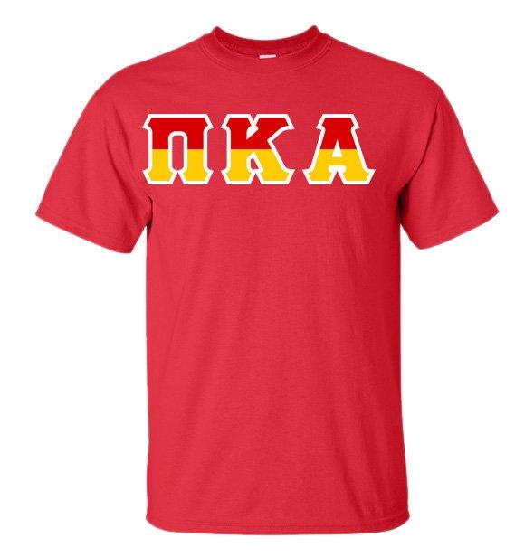 Pi Kappa Alpha Two Tone Greek Lettered T-Shirt