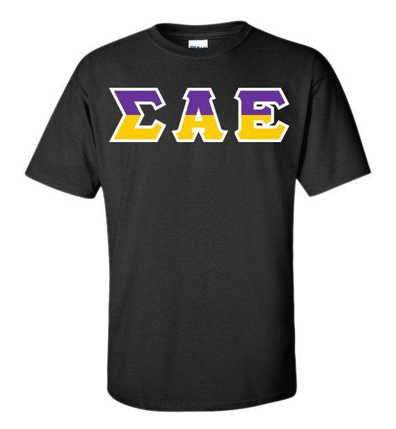 Sigma Alpha Epsilon Two Tone Greek Lettered T-Shirt
