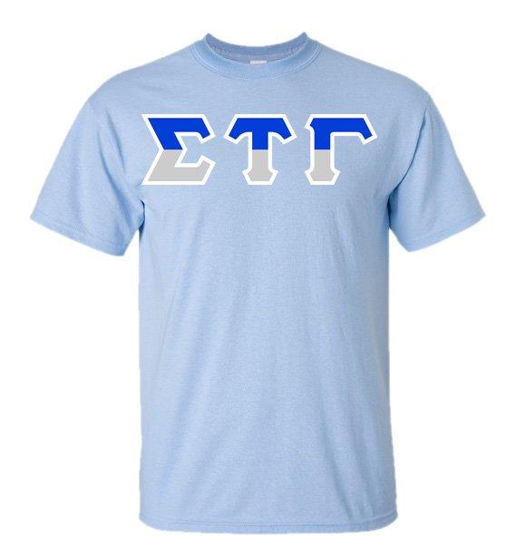 Sigma Tau Gamma Two Tone Greek Lettered T-Shirt