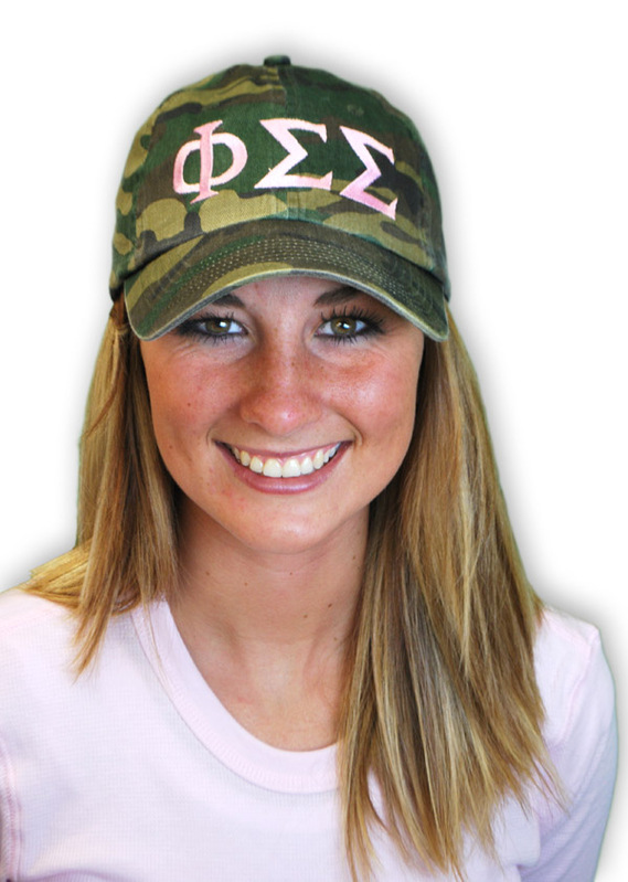 Fraternity & Sorority Lettered Camouflage Hat