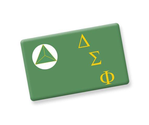 Delta Sigma Phi Ceramic Flag Magnet