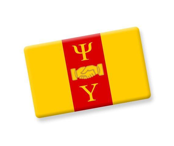 Psi Upsilon Ceramic Flag Magnet