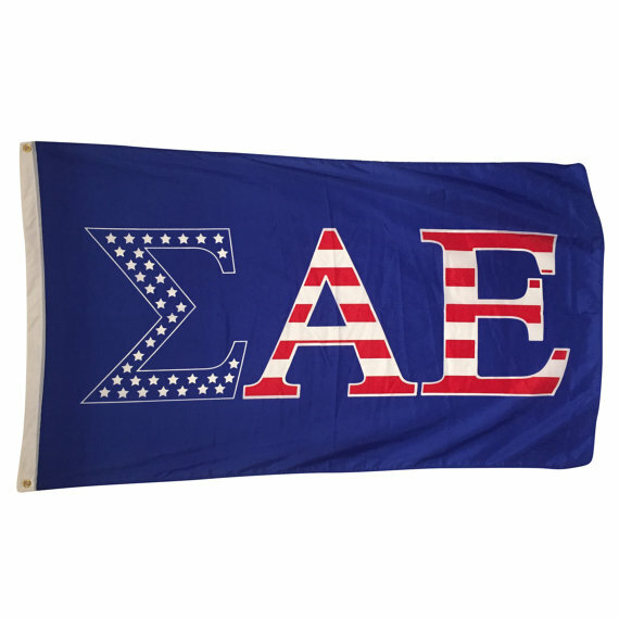 Sigma Alpha Epsilon USA Greek Letter Flag