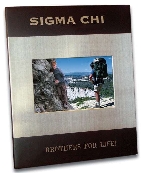 Brushed Fraternity Picture Frame