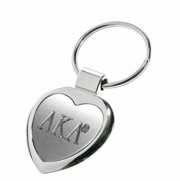 AKA Steel Heart Keychain - Engraved - ON SALE!