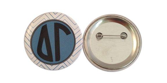 Sorority Chevron Monogram Buttons