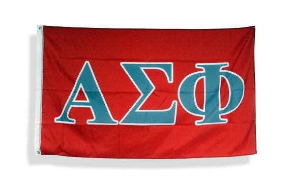 Alpha Sigma Phi Big Greek Letter Flag