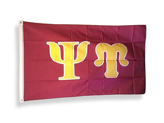 Psi Upsilon Big Greek Letter Flag
