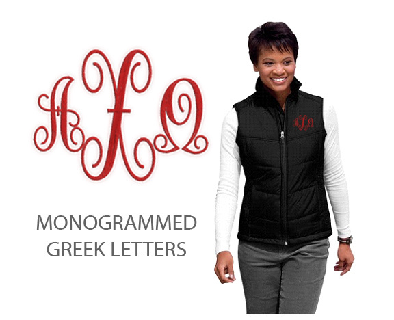 DISCOUNT-Alpha Chi Omega Patch Ladies Mission Puffy Vest