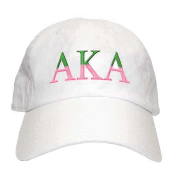 Greek Two Tone Letter Hat