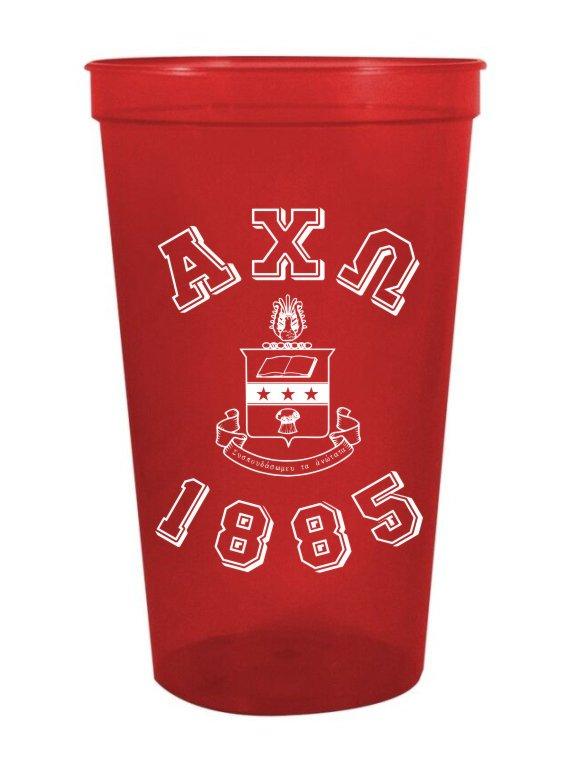 Alpha Chi Omega Custom Greek Crest Est Stadium Cup