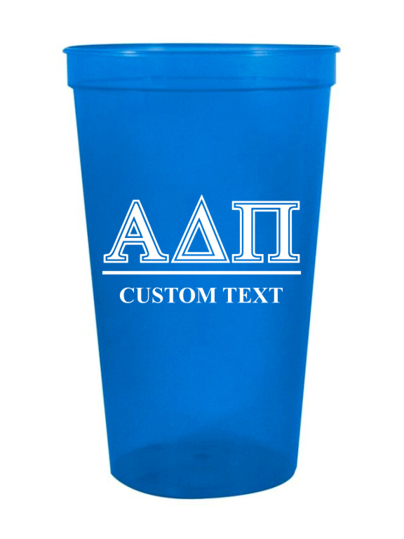 Alpha Delta Pi Custom Greek Symbolized Stadium Cup