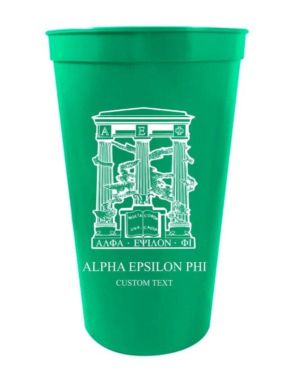 Alpha Epsilon Phi Custom Greek Crest Letter Stadium Cup